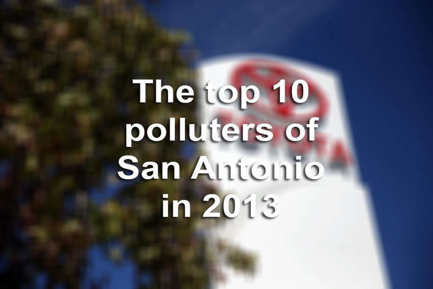 Here are the top 10 polluters of San Antonio in 2013. Their status was determined by the amount of volative organic compounds and nitrogen-based gases were released into the atmosphere, which ultimately cause smog and acid rain.