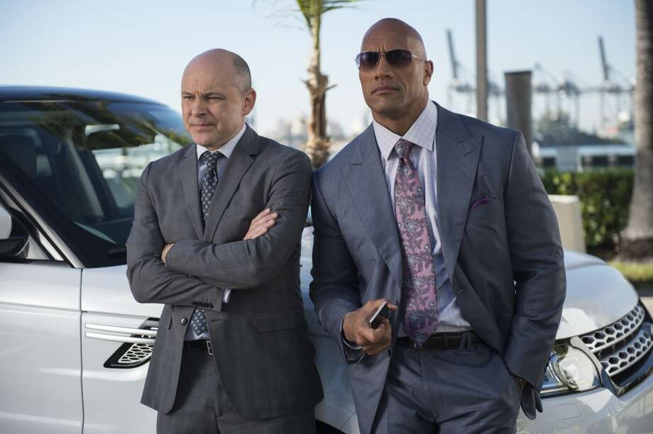 """Ballers,"" debuted Sunday on HBO. It stars Dwayne ""The Rock"" Johnson (right) and Rob Corddry as sports agents.  Photo: HBO"