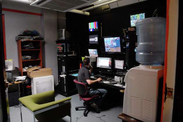 Zebulon Schmidt, programming manager at Open Stage Media located in Proctors in Schenectady, NY, works in the control room on Monday, July 5, 2010. The council sued Mayor Gary McCarthy and Proctors theater in May 2015 for what it says was a fraudulent takeover by the theater in 2009.  (Paul Buckowski / Times Union archive) Photo: PAUL BUCKOWSKI