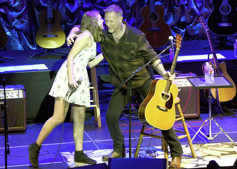 "Cali Hetfield (L) and James Hetfield perform during the 2nd Annual ""Acoustic-4-A-Cure"" Benefit Concert  at The Masonic Auditorium on May 15, 2015 in San Francisco, California.  (Photo by Tim Mosenfelder/Getty Images) Photo: Tim Mosenfelder, Getty Images / 2015 Tim Mosenfelder"