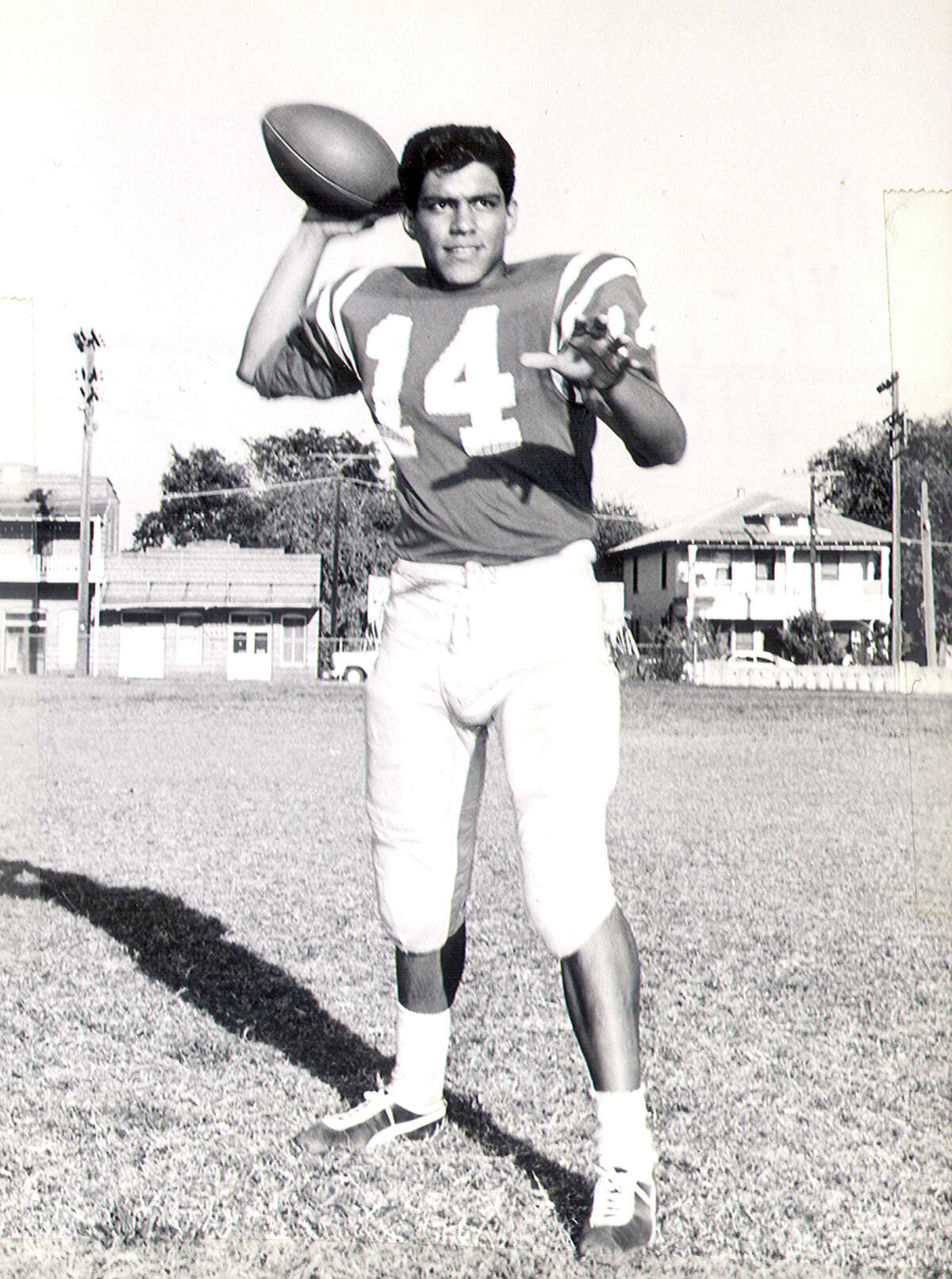 Vic Castillo - a 1963 Brackenridge High School graduate and a state champion quarterback in football. In Castillo's senior year, the Eagles capped an 11-3 season with a 30-26 win over Borger High School in the 1962 Class 4A state championship game. Castillo, called a side-armed passing wizard by the San Antonio Express-News, completed 14 of 28 passes for 256 yards and three touchdowns in the title game. His passing yardage total stood as a record for a 4A state final until 1971. Castillo completed 112 of 225 passes for 2,145 yards and 25 TDs in 1962, becoming the first high school player in state history to pass for more than 2,000 yards in a season. He signed with Kansas State in 1963 and played quarterback for the Wildcats in 1964 and 1965. Castillo completed his collegiate career at Kansas City Teachers College and earned a degree in physical education. He returned to SAISD in 1977 and for 24 years served as a coach, teacher and administrator at Sam Houston, Fox Tech, Lanier and Brackenridge.