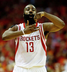 James Harden finished second to the Warriors' Stephen Curry in MVP voting while averaging 27 points per game and leading the Rockets to the No. 2 seed in the Western Conference.