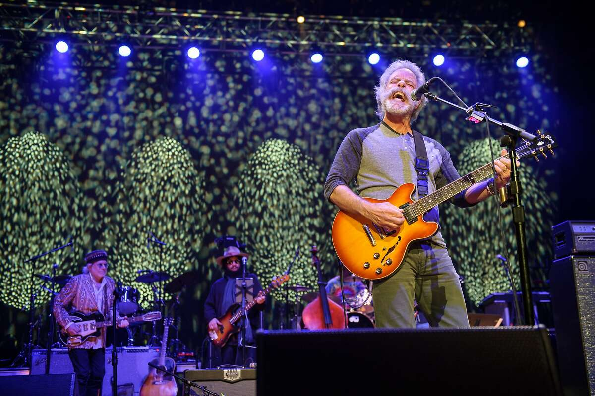 COLUMBIA, MD - May 14, 2015 - Buddy Miller, Don Was and Bob Weir perform during the Dear Jerry: Celebrating the Music of Jerry Garcia concert at Merriweather Post Pavilion in Columbia, MD. (Photo by Kyle Gustafson / For The Washington Post via Getty Images)