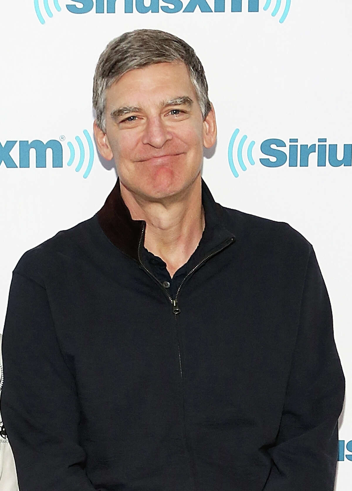 NEW YORK, NY - MAY 01: Writers and producers Mike Reiss (L) and Jeff Martin visit SiriusXM Studios on May 1, 2015 in New York City. (Photo by Monica Schipper/Getty Images)