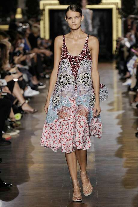Stella McCartney print silk Jordan dress with cloud applique embroidery, $6,225 at stellamccartney.com. Photo: Handout /McClatchy-Tribune News Service / Los Angeles Times