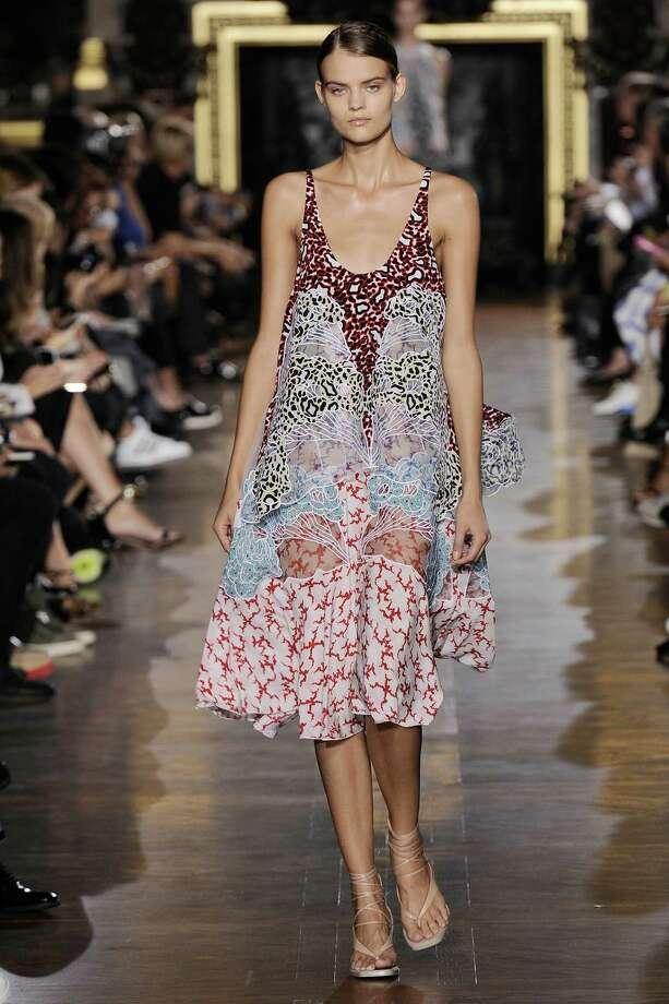Stella McCartney print silk Jordan dress with cloud applique embroidery, $6,225 at stellamccartney.com. Photo: Handout /McClatchy-Tribune News Service / Los Angeles Times