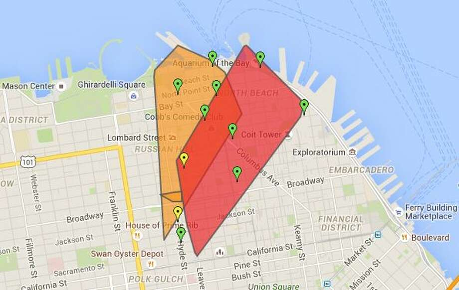 A power outage was affecting roughly 7,500 customers in San Francisco the afternoon of Monday, May 19. Photo: Courtesy / Pacific Gas And Electric Co. / ONLINE_YES