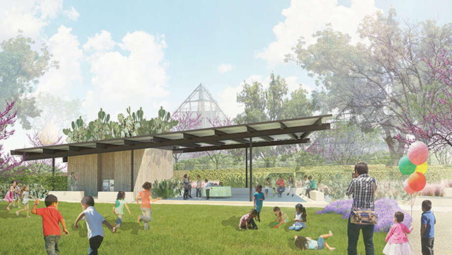 The Prickly Pear Pavilion will be an open-air space for classes and birthday parties in the new Family Adventure Garden that's planned as part of the San Antonio Botanical Garden Expansion. Photo: San Antonio Botanical Garden / Courtesy