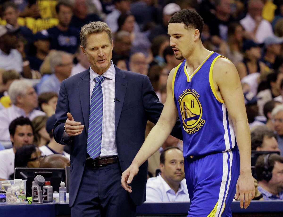 First-year Warriors coach Steve Kerr (with shooting guard Klay Thompson, right) expects the Rockets to be a formidable foe after overcoming a 3-1 series deficit to oust the Clippers.
