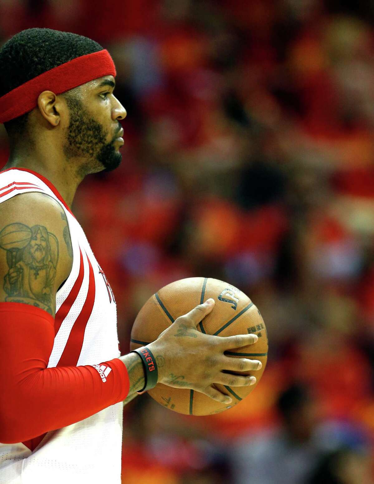 Houston Rockets forward Josh Smith during the third quarter of Game 7 of the NBA Western Conference semifinals at the Toyota Center Sunday, May 17, 2015, in Houston. ( James Nielsen / Houston Chronicle )