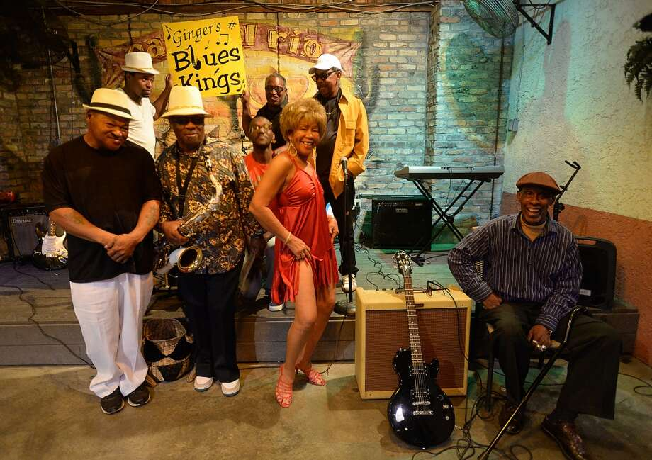 Ginger and the Rhythm & Blues Kings mix up R&B classics and zydeco in their spirited performances.  Photo taken Saturday, March 28, 2015 Kim Brent/The Enterprise Photo: Kim Brent/The Enterprise