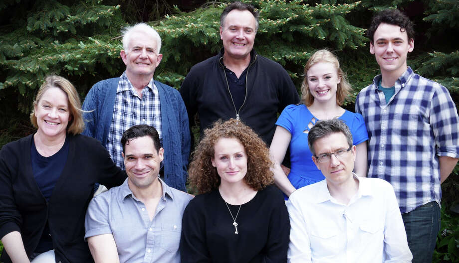 "Cast members of ""And a Nightingale Sangî are: (top row, left to right) Richard Kline, Sean Cullen, Jenny Leona, and John Skelley, Seated, from left to right, are: Deirdre Madigan, Matthew Greer, Brenda Meaney, and director David Kennedy. The World War II love story runs June 9 to 27 at the Westport Country Playhouse.( Photo by Kat Gloor) Photo: Contributed Photo / westport news"