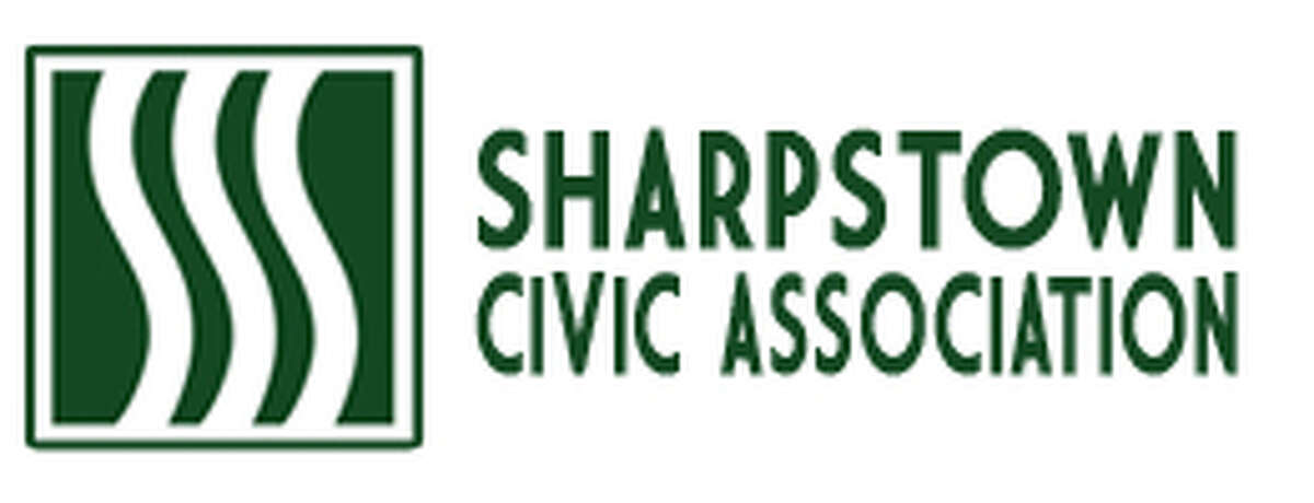 The Sharpstown Civic Association logo is streamlined and sleek, as befits a master-planned community.