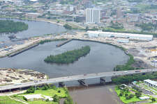 Purple Heart Bridge with Downtown Beaumont above. Photo taken July 24, 2011 Guiseppe Barranco/The Enterprise