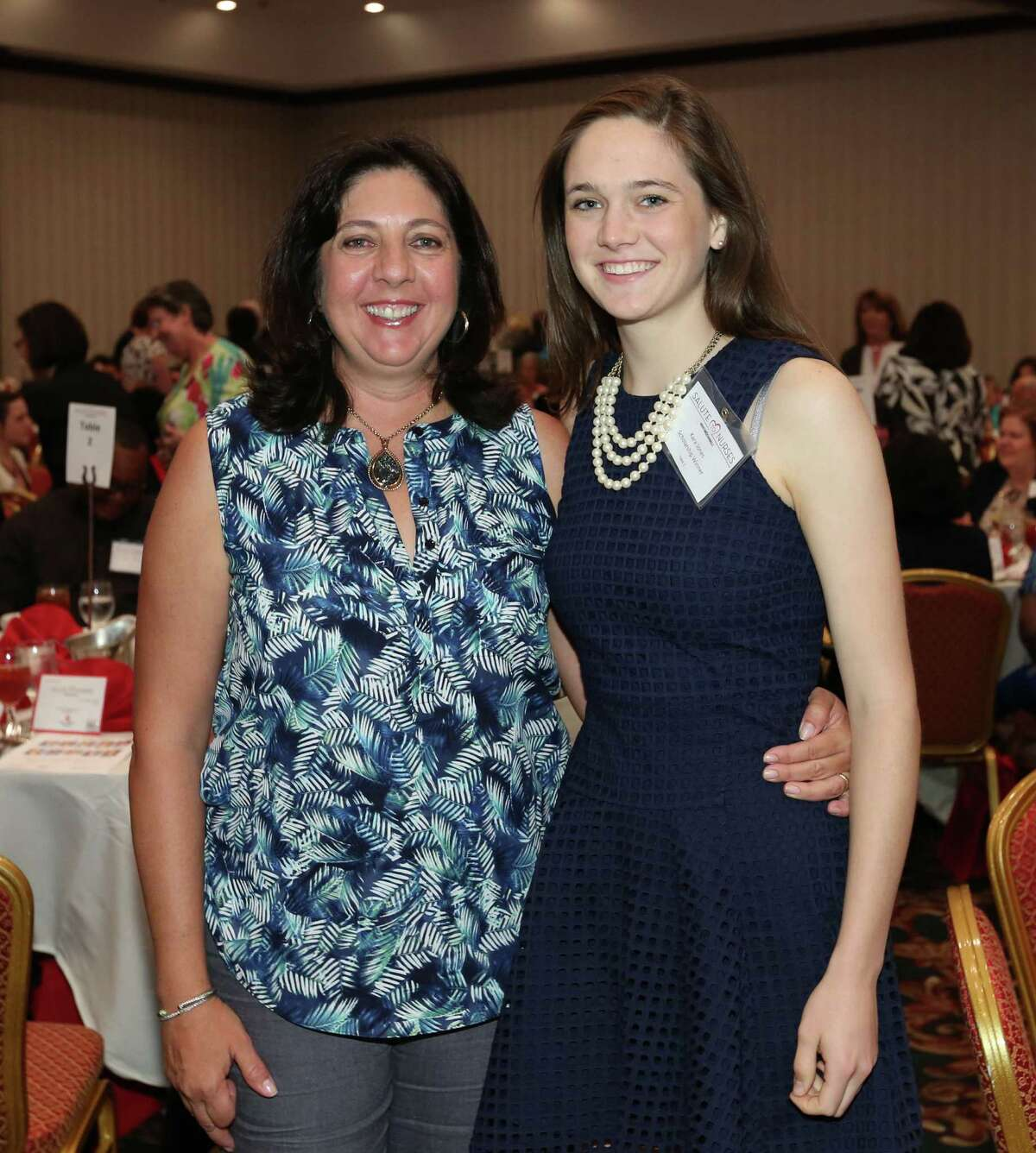 Kara and Monica Jones at the Houston Chronicle Salute to Nurses Luncheon.