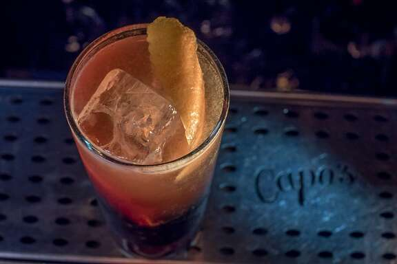 The Fool's Gold cocktail at Capo's in San Francisco, Calif., is seen on May 18th, 2015.