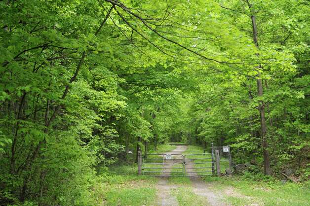 A view of an access road off of Tracey Road, seen here on Monday, May 18, 2015, in Coeymans, N.Y.  Police are investigating the discovery of human remains found in this area.   (Paul Buckowski / Times Union) Photo: PAUL BUCKOWSKI / 00031888A