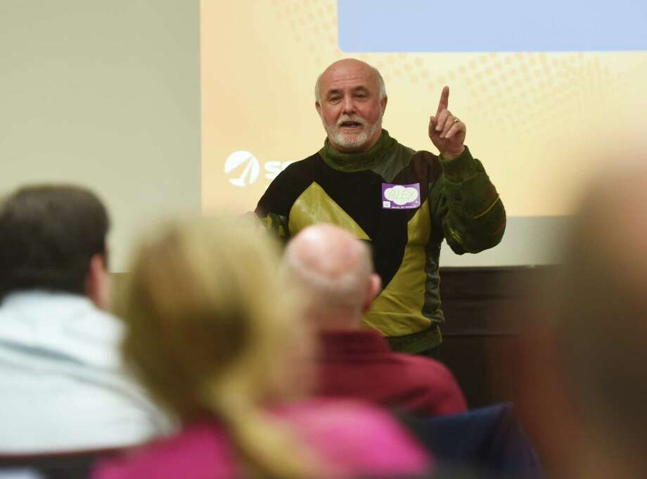 Despite efforts by organizers like Alex Virvo, who runs the weekly Innovation Roundtable at the Stamford Innovation Center, lower Fairfield County has yet to gain ground on a Brookings Institution index tracking advanced industries like high-tech nationally.; Photo: Tyler Sizemore / Greenwich Time
