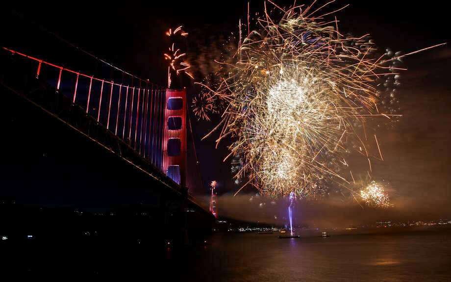 May 27, 2012: The fog was good enough to stay away for this spectacular fireworks show celebrating the 75th anniversary of the Golden Gate Bridge in San Francisco. Photo taken by Michael Macor, a Pulitzer-winning photographer who took several memorable photos on the anniversary. Photo: Michael Macor, The Chronicle