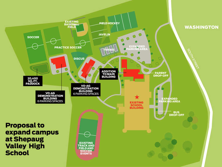 Proposal to expand the campus at Shepaug Valley High School Photo: Daryn Rowley / The News-Times