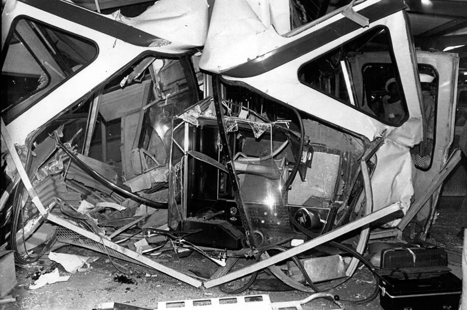 The July 25, 1971 Monorail crash at Seattle Center.