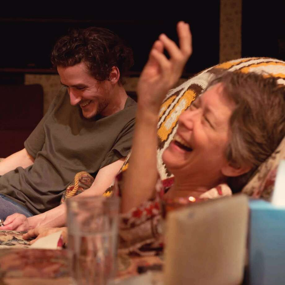 """Cris Boneta (from left) and Sam Carter Gilliam chat about sex in """"4000 Miles,"""" which can be seen at the Cellar Theater of The Playhouse San Antonio. Photo: Courtesy Siggi Ragnar / Courtesy Siggi Ragnar"""