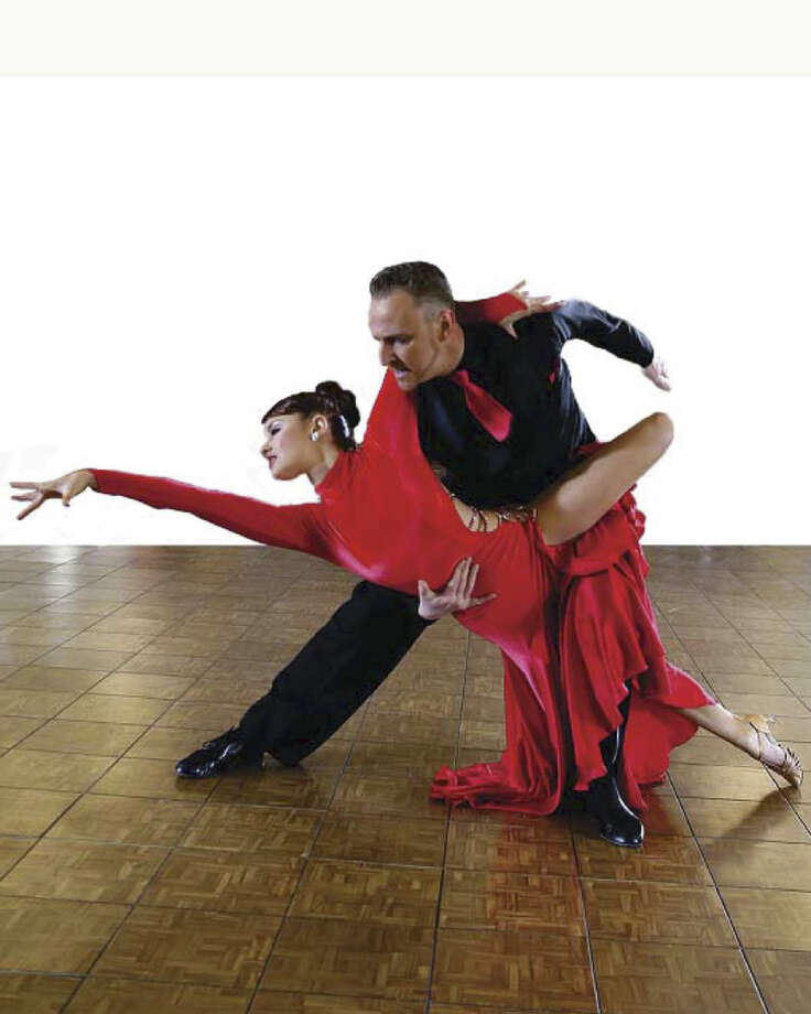Former International 10-dance ballroom champion of Germany, Christian Lange, and   his new American partner, Jennifer Kirksmith, will present their elegant show in the Holy   Trinity Greek Church Community Center in Bridgeport on Saturday evening, May 23. Photo: Contributed Photo, Contributed Photo / Connecticut Post Contributed