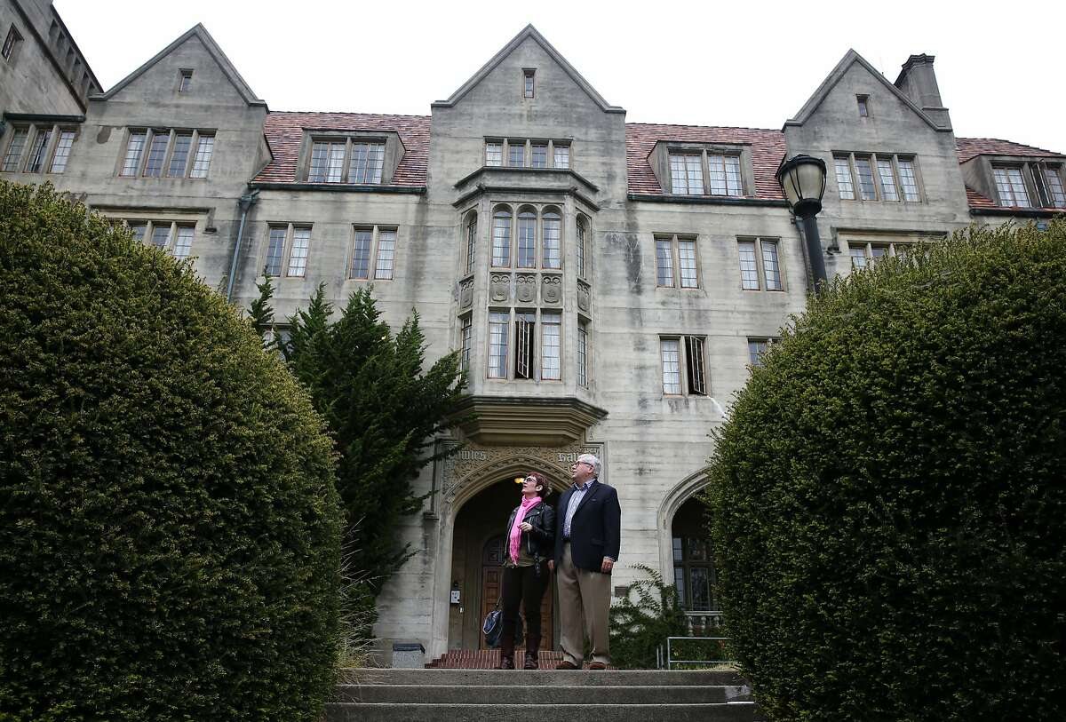 Daniel Melia, professor emeritus of Rhetoric and Celtic Studies, visits Bowles Hall with his wife Dara Hellman at UC Berkeley on Tuesday, May 19, 2015. Melia will be the housemaster of the historic, castle-like mansion after it reopens as a coed residential college following an extensive one-year renovation project.