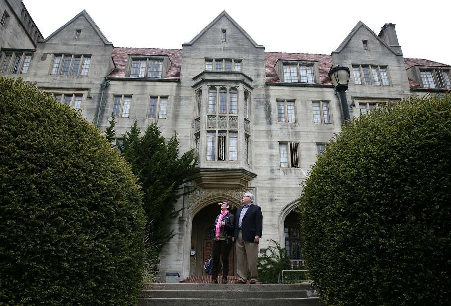 Daniel Melia, professor emeritus of Rhetoric and Celtic Studies, visits Bowles Hall with his wife Dara Hellman at UC Berkeley on Tuesday, May 19, 2015. Melia will be the housemaster of the historic, castle-like mansion after it reopens as a coed residential college following an extensive one-year renovation project. Photo: Paul Chinn, The Chronicle