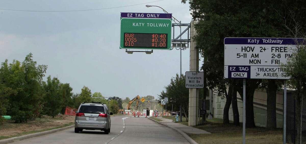 The Katy Managed Lane entrance near the METRO Addicks Park and Ride location.
