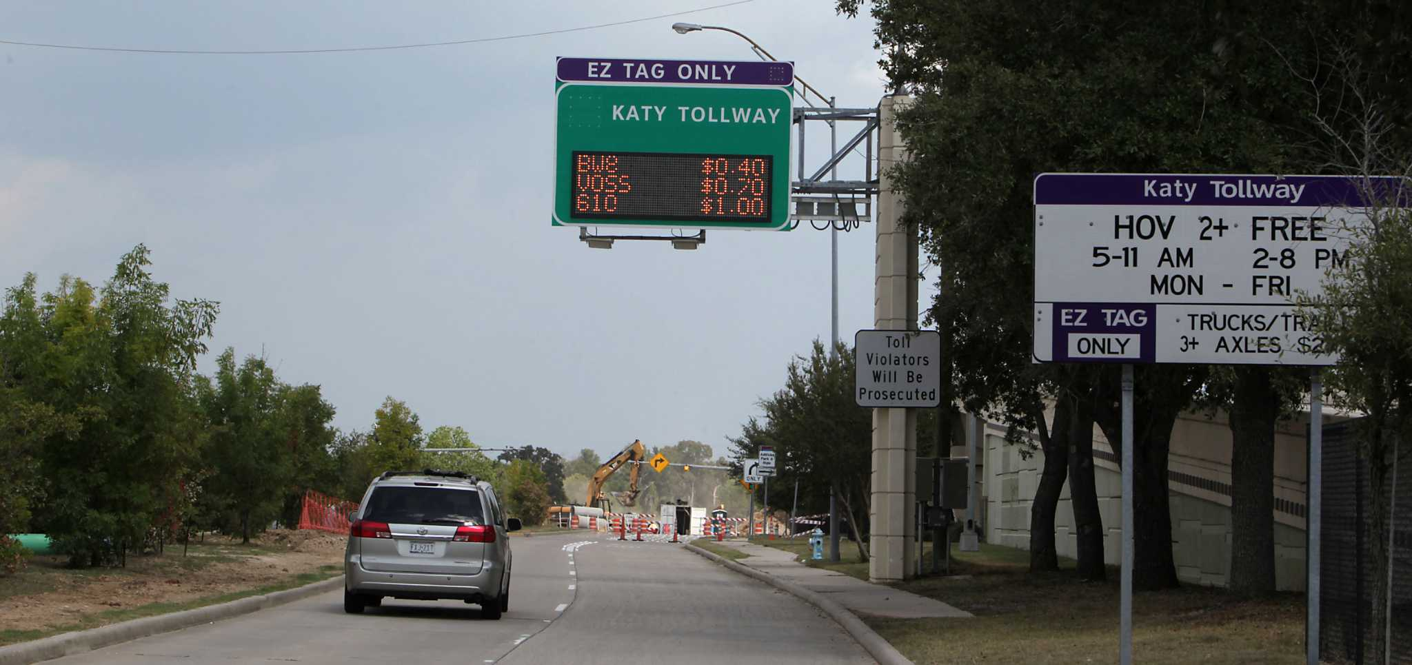 Peak I 10 Toll Price Increasing To 10 Houstonchroniclecom