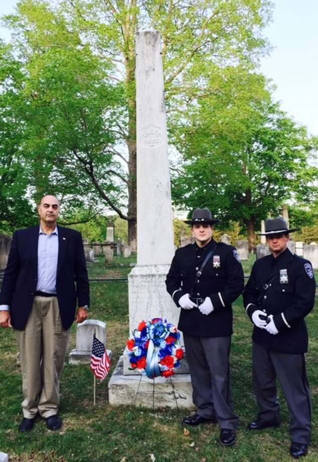 Rensselaer County sheriff's officials remember a lawman killed in the line of duty in 1869. (Submitted photo)