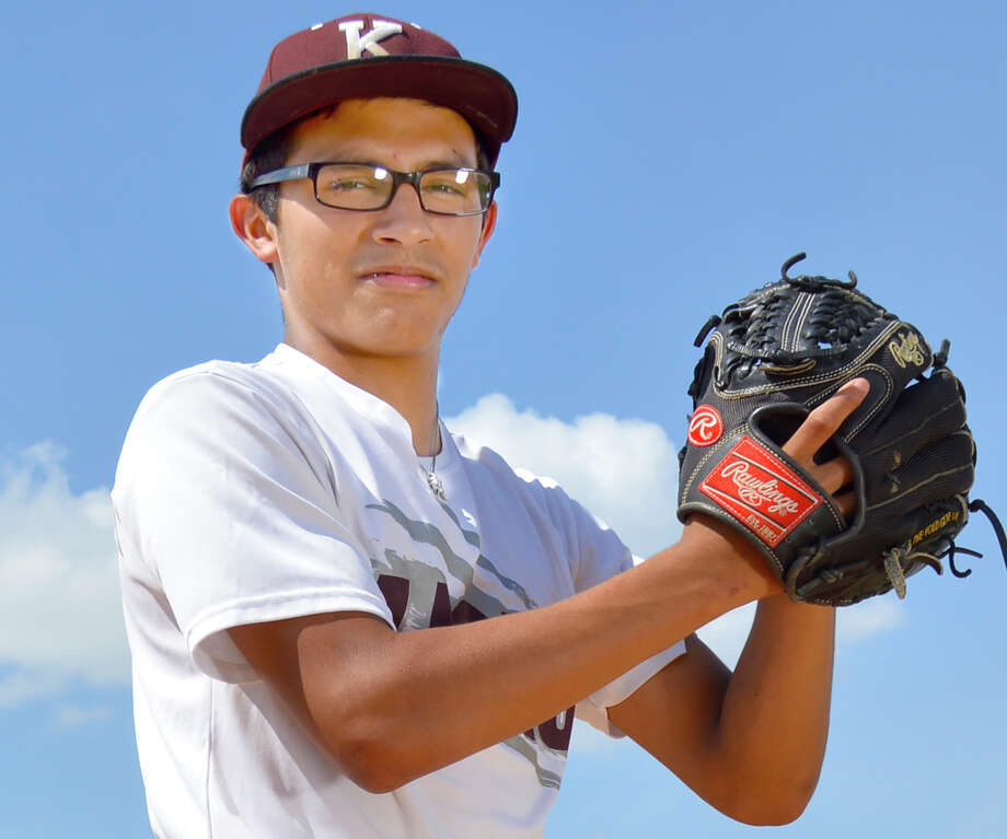 Kenedy pitcher Dominic Cruz did it all in a one-game playoff win over previously unbeaten and state-ranked Center Point. Photo: Courtesy Photo / Celia D. Photography