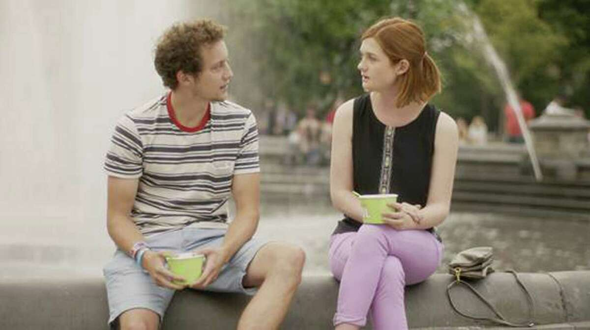 Bonnie Wright, right, as Zoe, and Jacob Zachar as Sam, in the movie