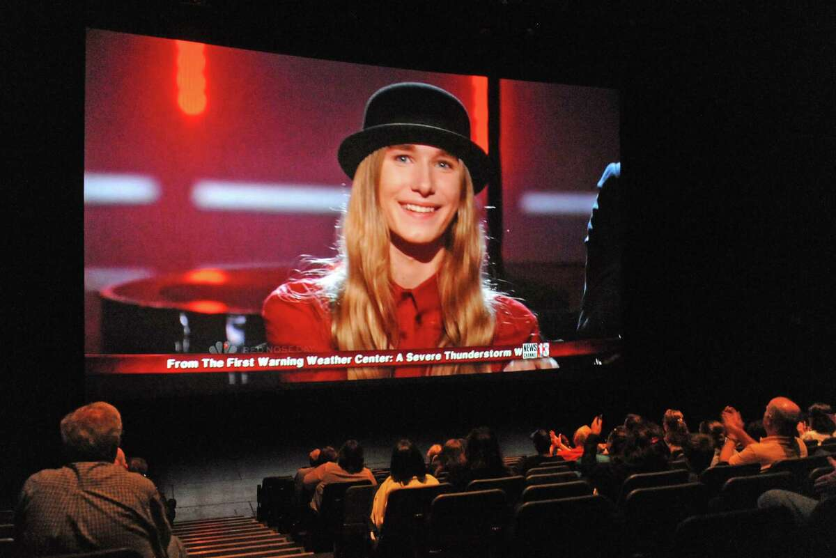 Local fans watch The Voice finals during a Sawyer Fredericks viewing party co-sponsored by the Times Union and Proctors at the Proctors GE Theatre on Tuesday May 19, 2015 in Schenectady, N.Y. (Michael P. Farrell/Times Union)