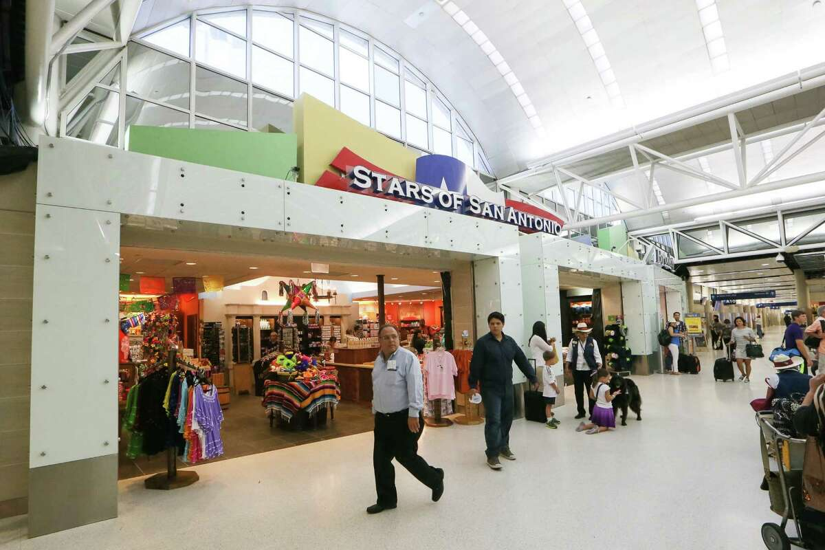 New storefronts were part of a $35.6 million project to renovate Terminal A at the San Antonio International Airport as seen in this 2014 photo.