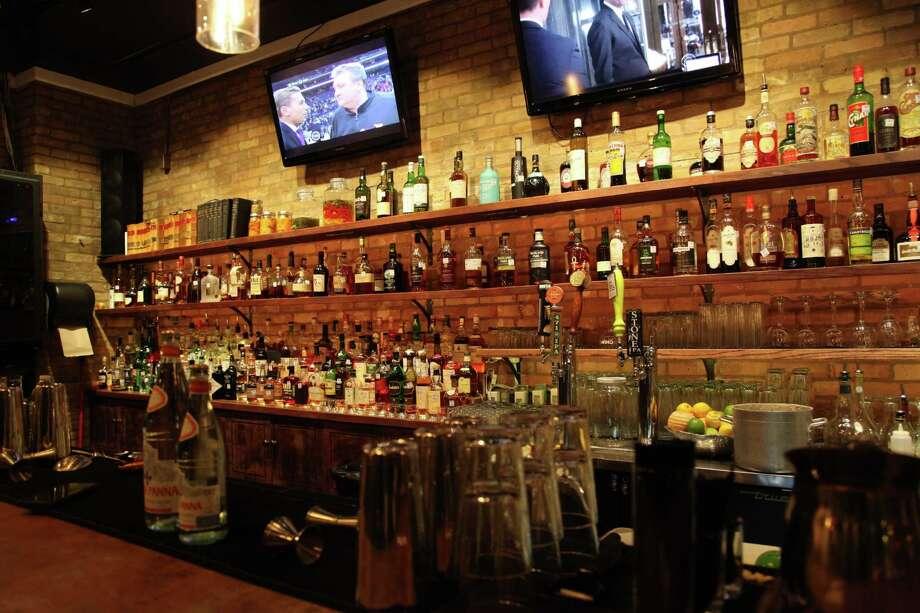 The bar area at The Bar. Photo: Xelina Flores /For The Express-News / For the Express News
