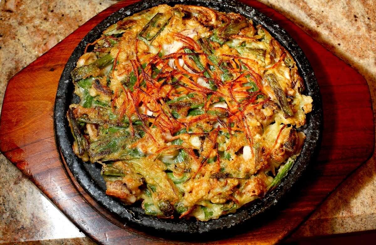 The seafood pancake at Jang Su Jang.
