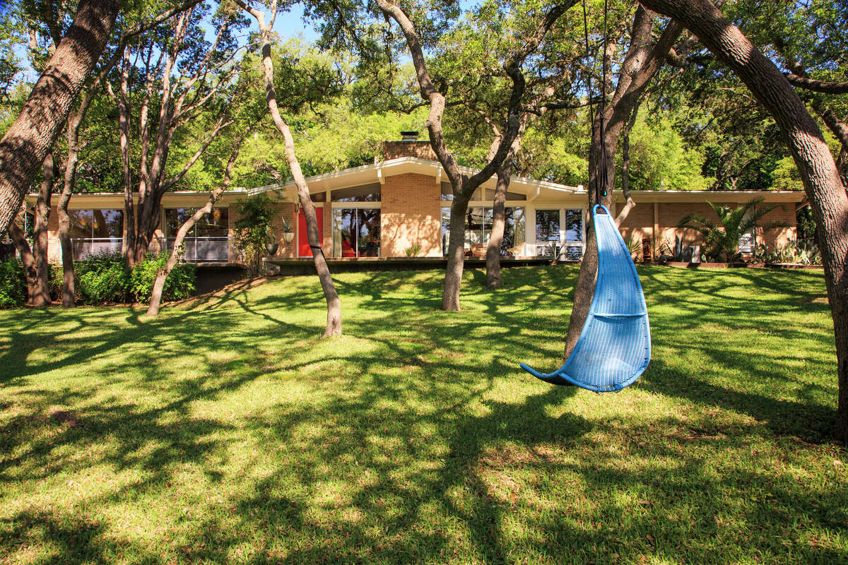 This West Lake Hills, Texas home comes with a limestone bomb shelter.