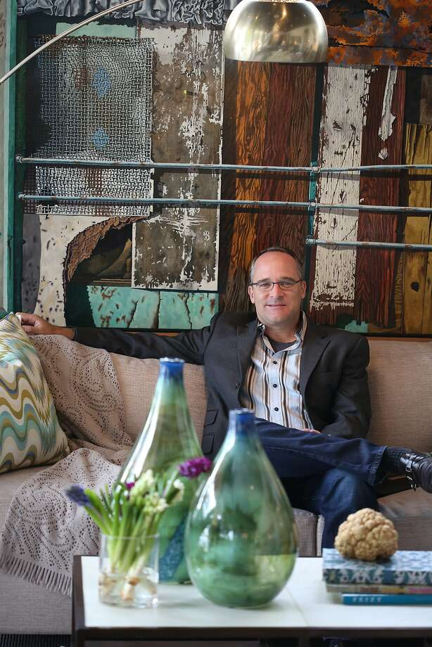 Interior designer Eric Henderson, in his S.F. showroom, has a studio in Hawaii as well. Photo: Liz Hafalia, The Chronicle