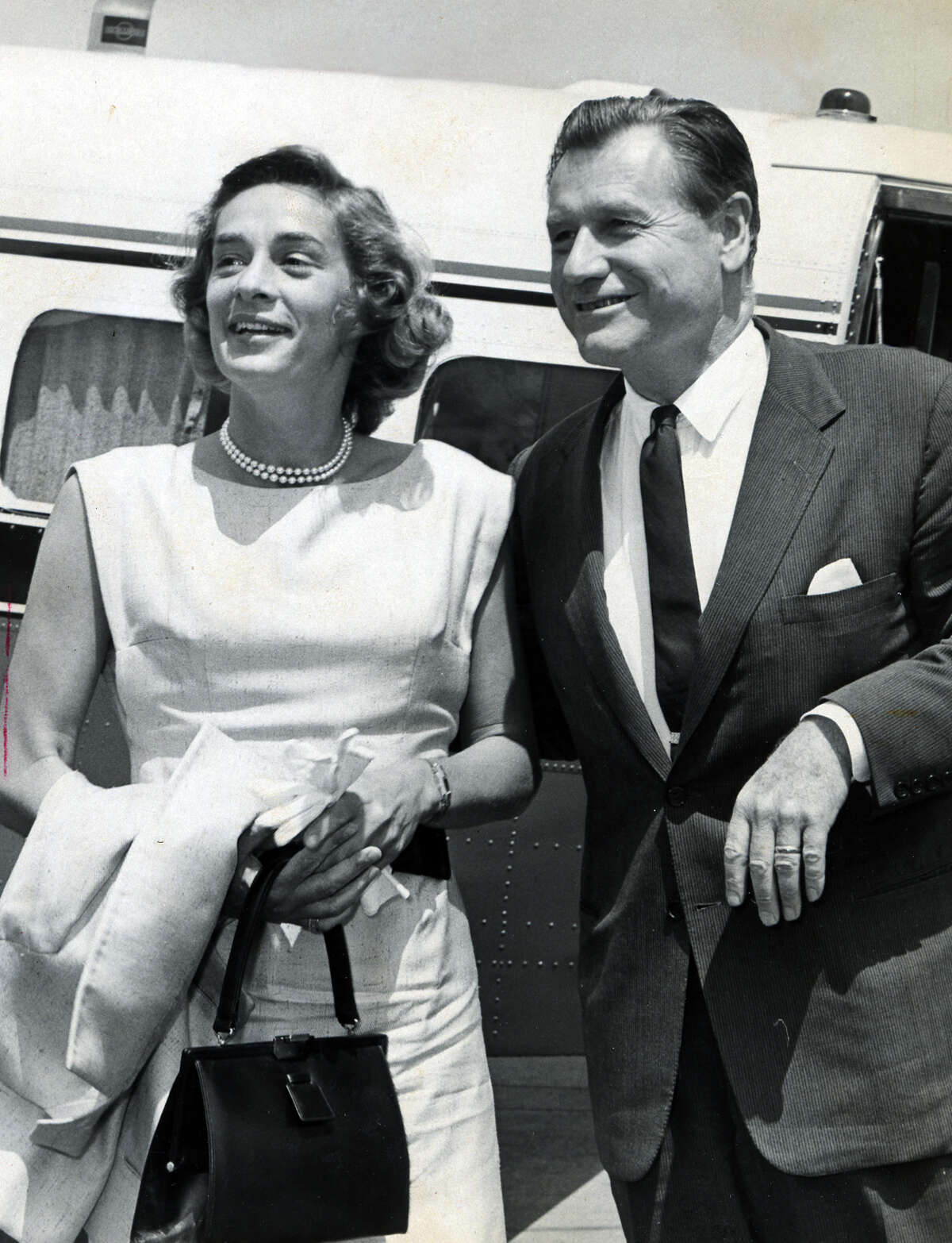 Gov. Nelson Rockefeller is pictured with wife,