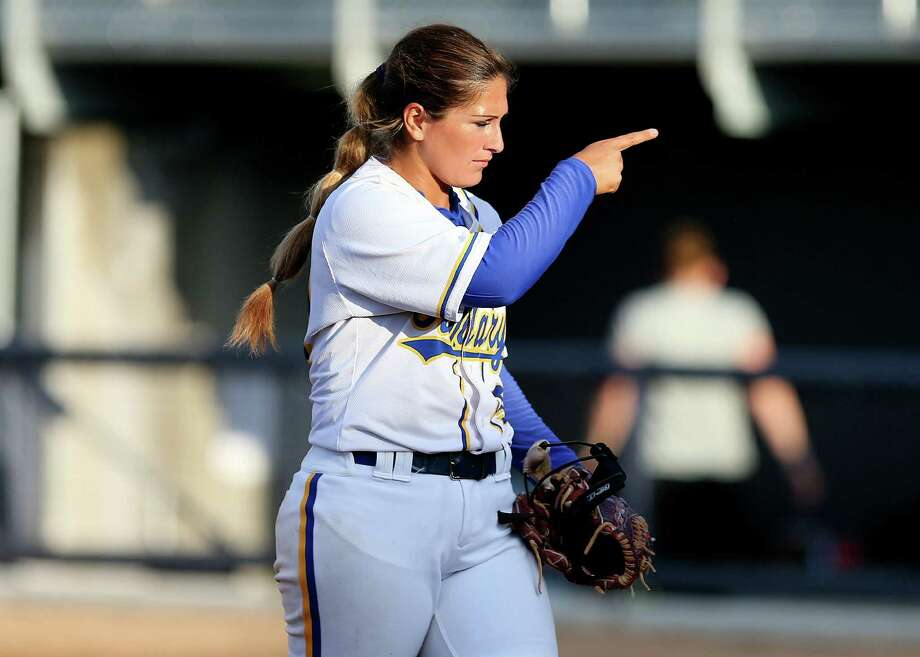 Vianna Gutierrez Touchtone has been a two-way star for the St. Mary's softball team, leading the squad in home runs and is the staff ace pitcher. Photo: Antonio Morano / St. Mary's Athletics