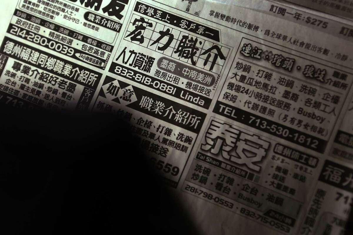The employment agencies advertised in Chinese-language newspapers across the country, promising to provide cheap, under-the-table labor.