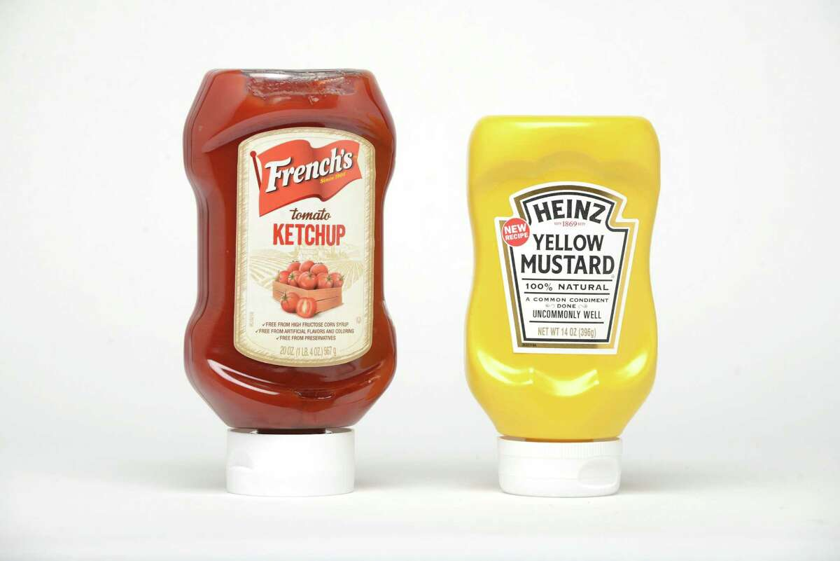 French?'s Ketchup and Heinz Mustard Monday, May 18, 2015, at the Times Union in Colonie, N.Y. (Will Waldron/Times Union)