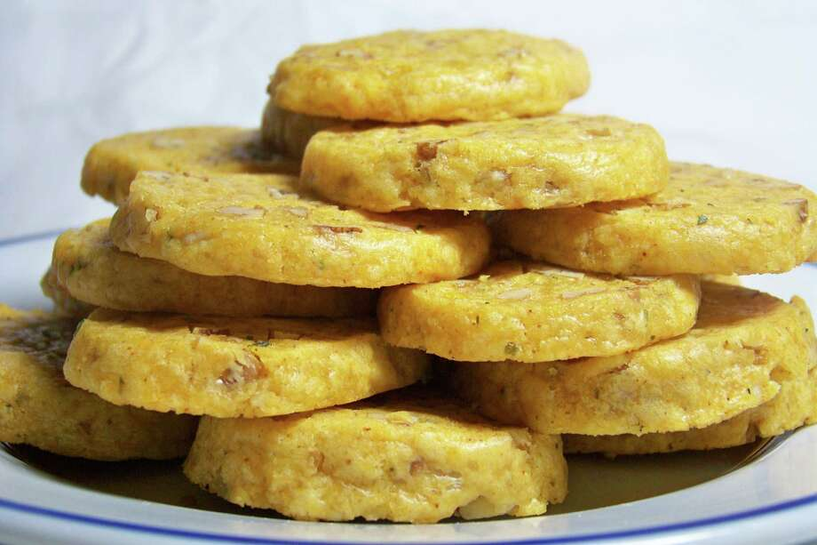 Cheese cookies from Scrivener's Tea Room Photo: Edmund Tijerina /San Antonio Express-News