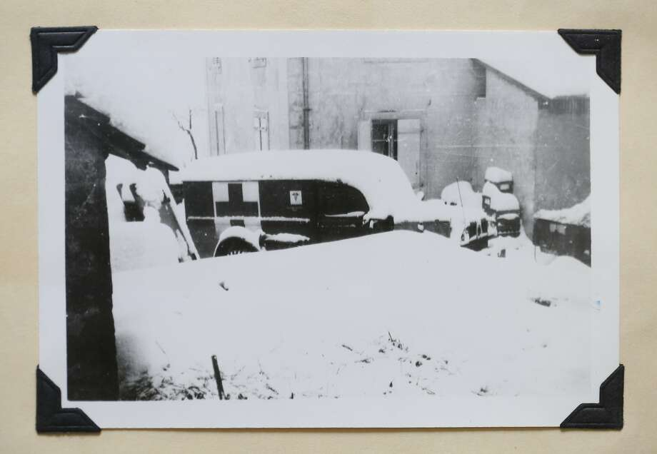 A photograph of a WWII era medical vehicle in France was taken by Dr. John Kerner during WWII. Photo: Mike Kepka, The Chronicle