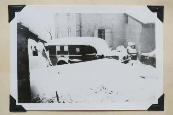 A photograph of a WWII era medical vehicle in France was taken by Dr. John Kerner during WWII.