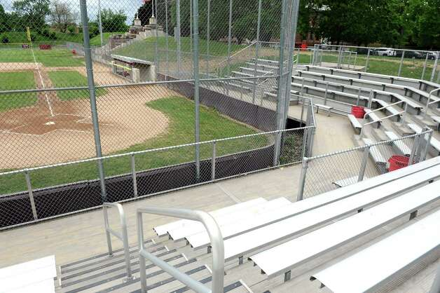 The bleachers on Wednesday, May 20, 2015, at Bleecker Stadium in Albany, N.Y. (Cindy Schultz / Times Union) Photo: Cindy Schultz / 00031931A
