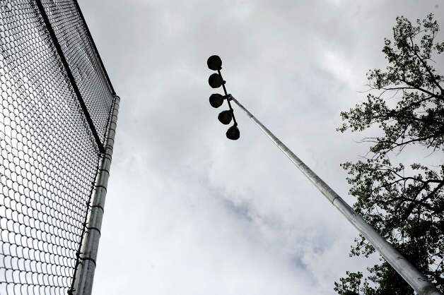 New lights are in place on Wednesday, May 20, 2015, at Bleecker Stadium in Albany, N.Y. (Cindy Schultz / Times Union) Photo: Cindy Schultz / 00031931A