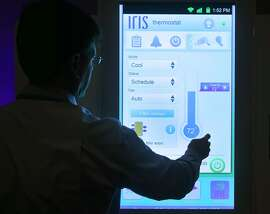 David Felgner from Iris Smart Home runs through a demonstration of the system at the Connections conference in Burlingame, Calif. on Wednesday, May 20, 2015.